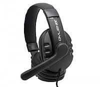 Игровые наушники с микрофоном 3,5 мм геймерские для ноутбука Playstation телефона игр черный P3