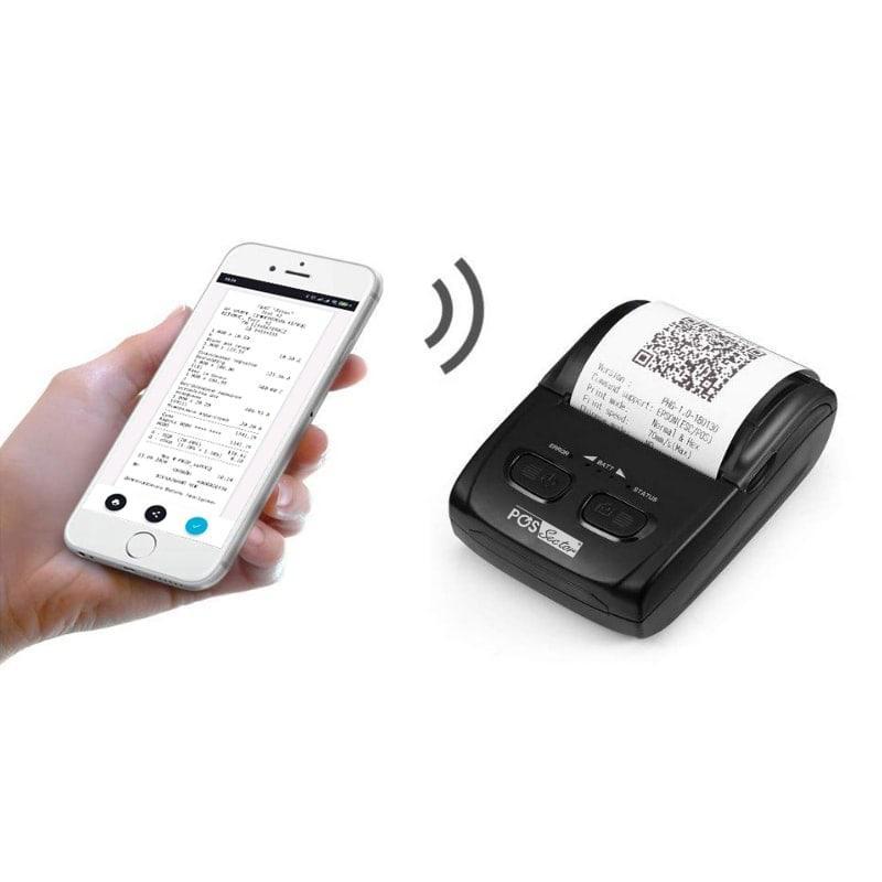 Портативный термо принтер чеков H200 58мм Bluetooth Мобильный принтер для пPPO Checkbox, СОТА
