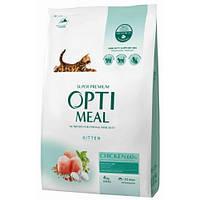 Сухой корм Optimeal для котят, с курицей, 4 кг
