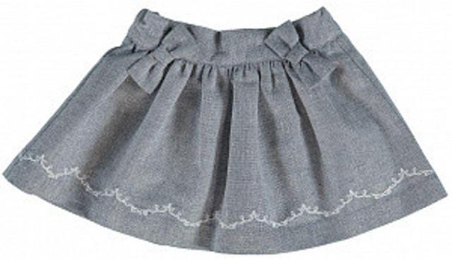 Юбка для девочки Ceremony by Wojcik 23564 серая 74-86