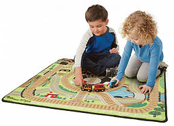 Игровой коврик с паровозиками Железнная дорога Melissa&Doug (MD19554)