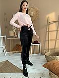 Женские велюровые штаны №1936 на меху (44-58р), фото 3