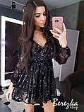 Женское короткое платье с пайетками, фото 3