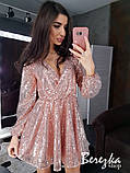 Женское короткое платье с пайетками, фото 8