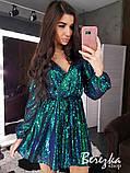 Женское короткое платье с пайетками, фото 10