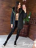 Женская двухсторонняя куртка-зефирка с капюшоном, фото 4
