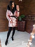 Женская зимняя двухсторонняя курточка с капюшоном, фото 5