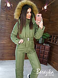 Женский тёплый комбинезон с капюшоном, фото 6