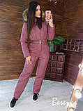 Женский тёплый комбинезон с капюшоном, фото 7