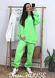Женский теплый костюм с объёмным свитшотом с капюшоном, фото 2