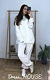 Женский теплый костюм с объёмным свитшотом с капюшоном, фото 3