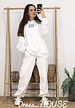 Женский теплый костюм с объёмным свитшотом с капюшоном, фото 4