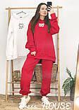 Женский теплый костюм с объёмным свитшотом с капюшоном, фото 9