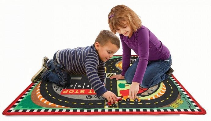Игровой коврик с машинками Гоночная трасса Melissa&Doug (MD19401)