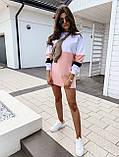 Женское платье-толстовка трехцветное, фото 2
