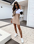 Женское платье-толстовка трехцветное, фото 3
