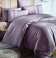 Комплект постільної білизни First Choice De Luxe ранфорс фіолетовий