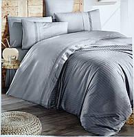 Комплект постільної білизни First Choice De Luxe ранфорс сірий