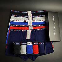 Набор мужских трусов TOMMY HILFIGER 5 шт в фирменной подарочной коробке Боксеры трусы шорты транки