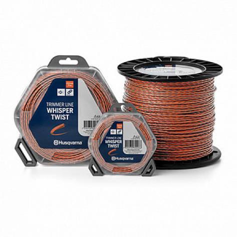 Леска для триммеров Husqvarna Whisper Twist 2,4/210m Spool Orange/Black (5976691-22), фото 2