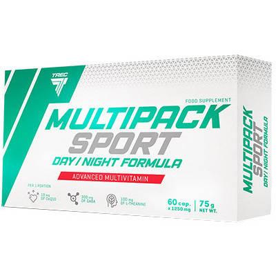 Витамины и минералы Multipack Sport Day/Night Formula  Trec Nutrition 60 кап, фото 2