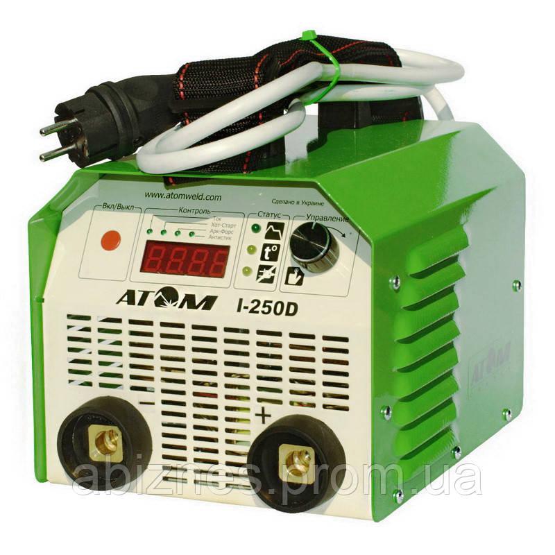 Сварочный инвертор АТОМ I-250D с байонетными штекерами без кабелей (вариант C)