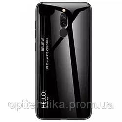 TPU+Glass чехол Gradient HELLO для Xiaomi Redmi 8