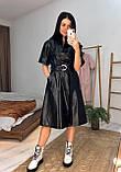 Женское  модное  платье с эко кожи, фото 5