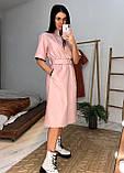 Женское  модное  платье с эко кожи, фото 7