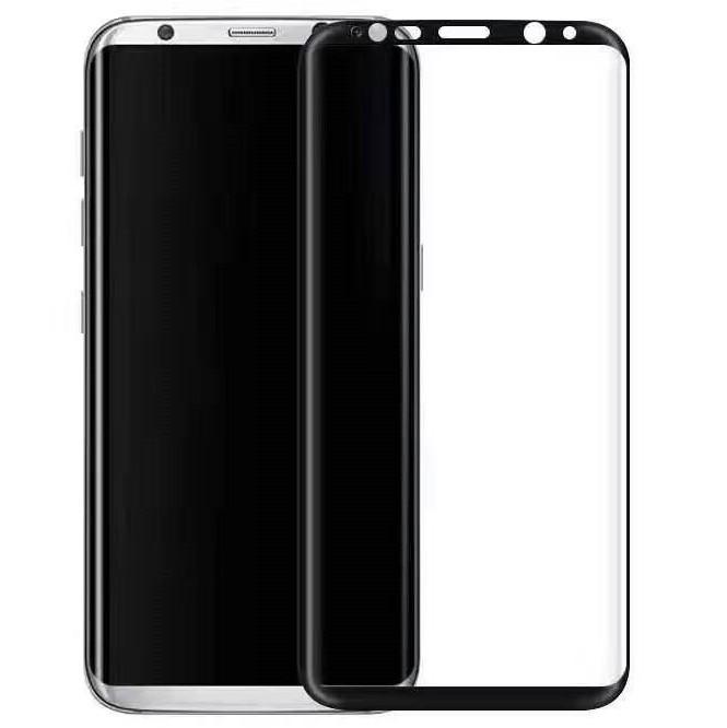 Защитное стекло 3D Edge (full glue) (без упаковки) для Samsung Galaxy S8 / S9 Черное