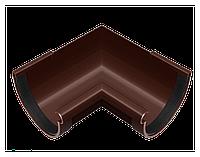 Угол желоба 90 мм 90° внутренний, водосточная система RainWay, Цвет RAL 8017 коричневый.
