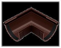 Угол желоба 90 мм 90° внешний, водосточная система RainWay, Цвет RAL 8017 коричневый.