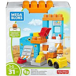 Конструктор Mega Bloks - Стройка (Storytelling Work Site), 31 дет, 1+ (FFG33)