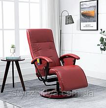 Відпочинкове крісло реклайнер з масажем та підігрівом