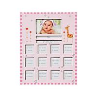 Фоторамка детская Walther Baby Animal детская на 12 фото розовая
