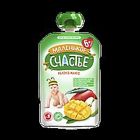 Пюре детское фруктовое яблоко манго (пауч) 6м+ 90г Маленькое счастье Украина 1030349
