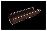 Желоб RainWay 90х3000 мм водосточный, водосточная система, Цвет RAL 8017 коричневый.