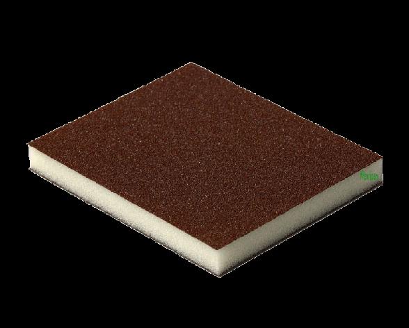 2-х сторонняя абразивная губка Flexifoam Red Soft Pad CAO, фото 2