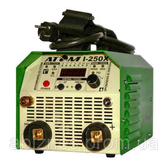 Сварочный инвертор АТОМ I-250X без сварочных кабелей и штекеров (вариант E)