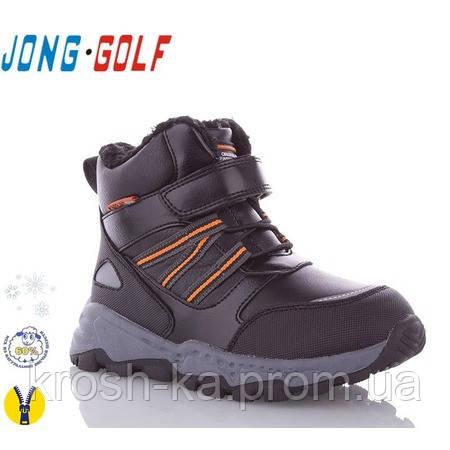 Ботинки для мальчика на меху черно-оранжевый(28-33)р Солнце Китай B2952-0