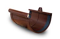 Муфта желоба RainWay 130 мм, пластиковая водосточная система, Цвет RAL 8017 коричневый.