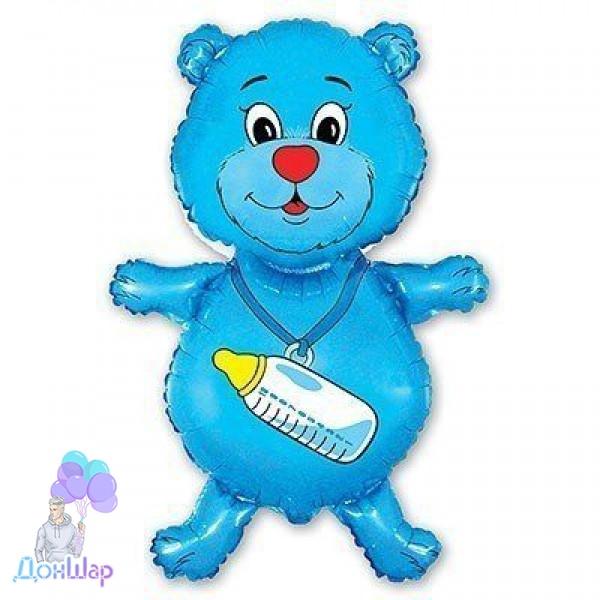Фольгированный Шар Мини-Фигура Flexmetal 36х23 см Медвежонок Мальчик