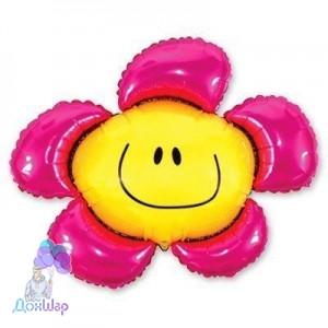 Фольгированный Шар Мини-Фигура Flexmetal 34х37 см Цветок Розовый