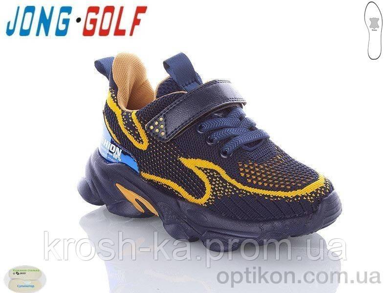 Кроссовки для мальчика сетка сине-жёлтые(31-36)р Jong Golf Китай C1916-1