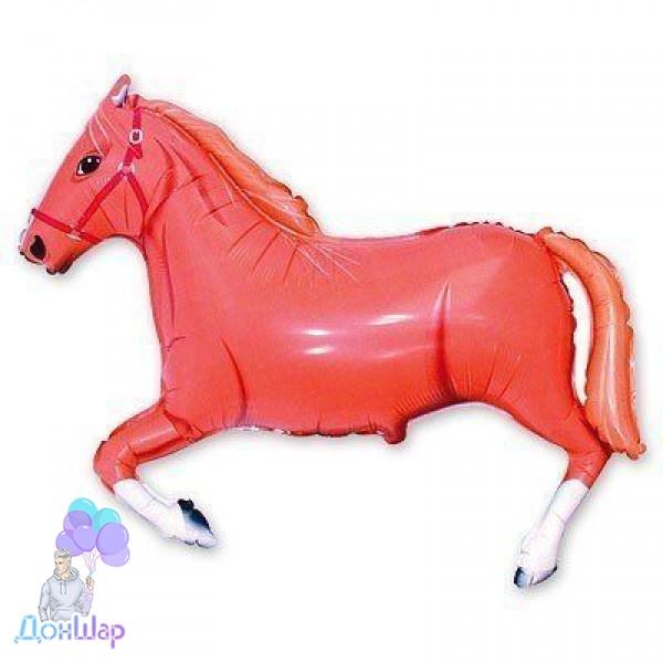Фольгированный Шар Мини-Фигура Flexmetal 29х41 см Лошадь Коричневая