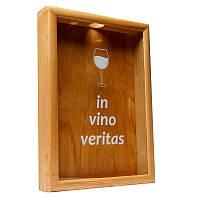 Копилка для винных пробок BST 50х35 см ясень In vino veritas большая (PRK 11)