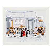 Поднос с подушкой для завтрака в постель BST 710040 44*36   белый  уличный ресторан