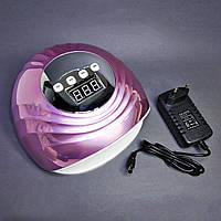 Лампа UV/LED для сушіння гель-лаку F6 86Вт срібло
