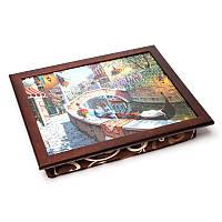 Поднос на подушке BST 710042 44*36 коричневый ретро
