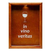 Копилка для винных пробок BST 38х28 см In vino veritas орех (PRK-51)